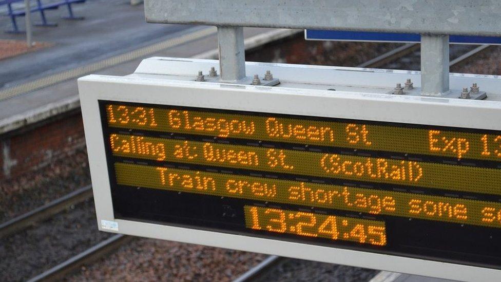 Train shortage sign