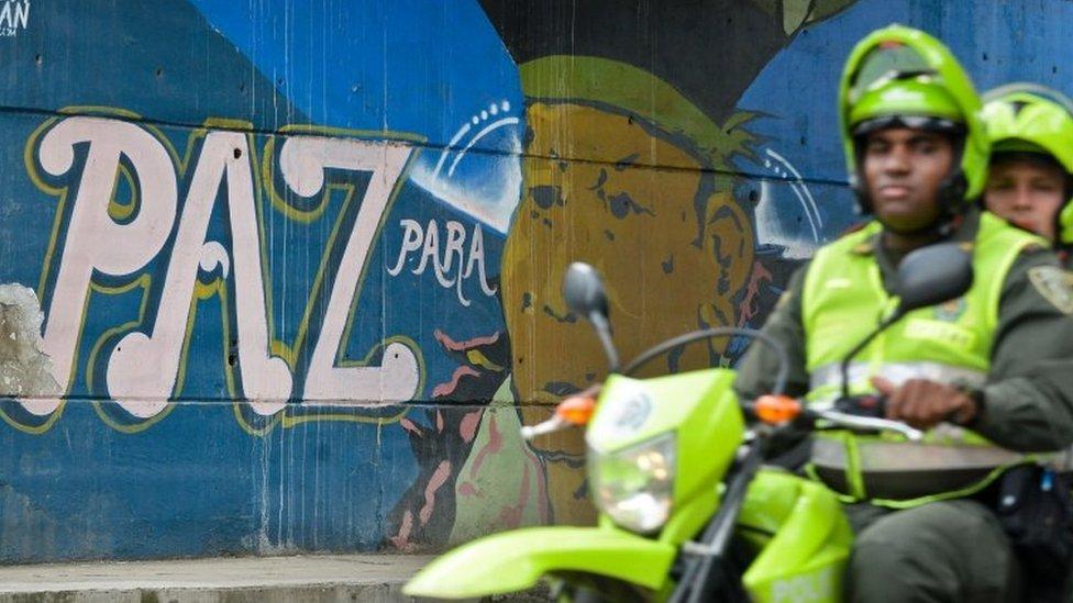 Motoqueiros na Colômbia