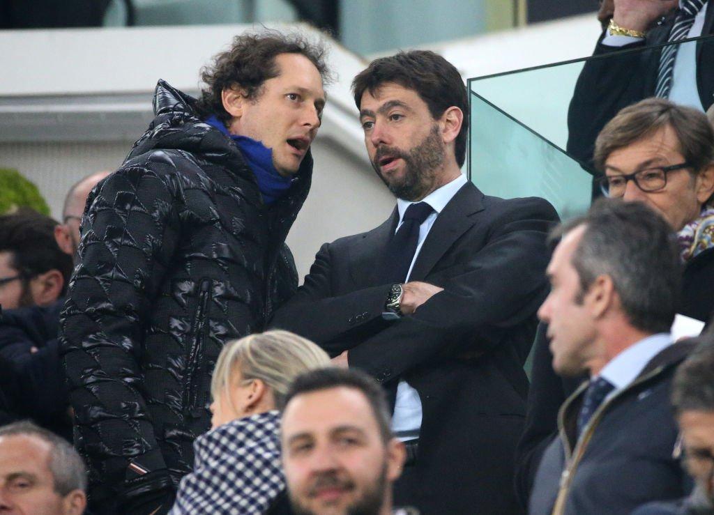 John Elkann (izq.) y Andrea Agnelli (der.) son las principales cabezas del conglomerado que controla a la Juventus.