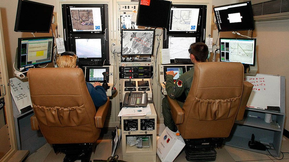 Operating unmanned aircraft at Creech Air Force Base