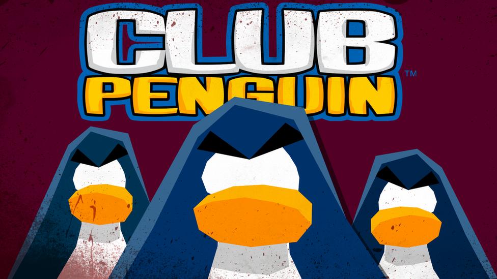 Silueta de pingüinos.