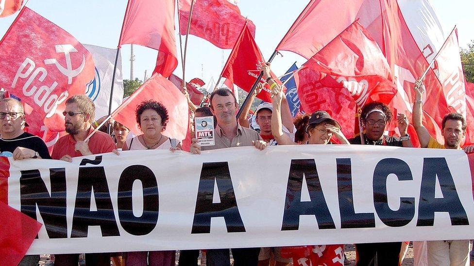 Protesta contra Alca