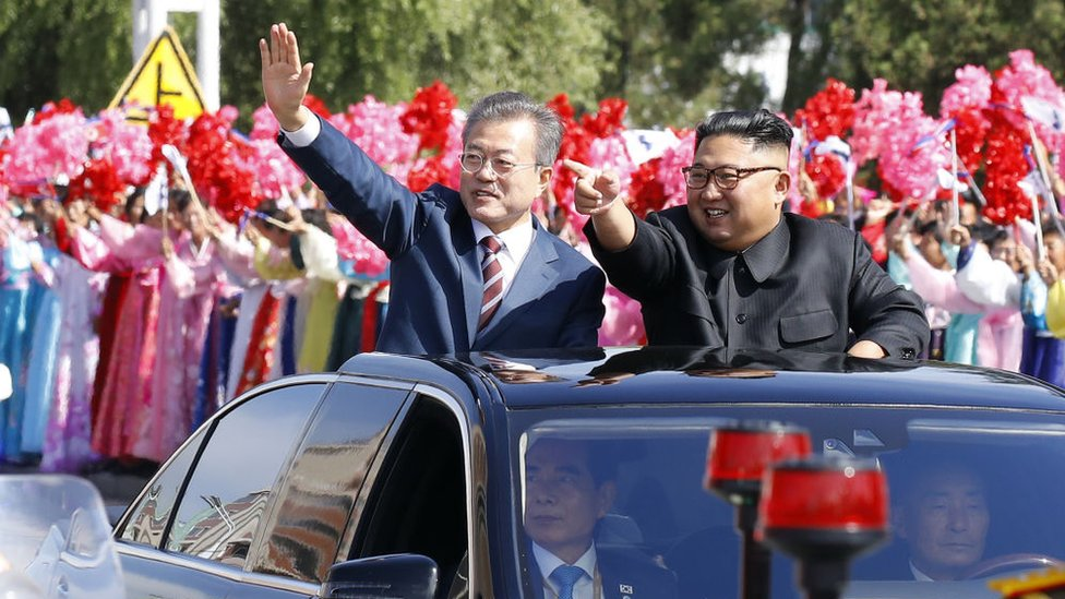 Президент Південної Кореї приїхав до Пхеньяна. Як його там зустрічають?