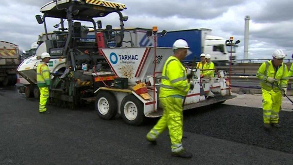 M5 Oldbury roadworks six months behind schedule