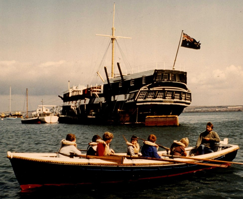 TRINC ship and rowing boat