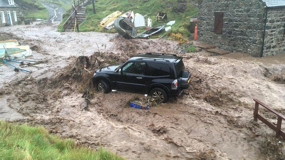 Crovie flooding