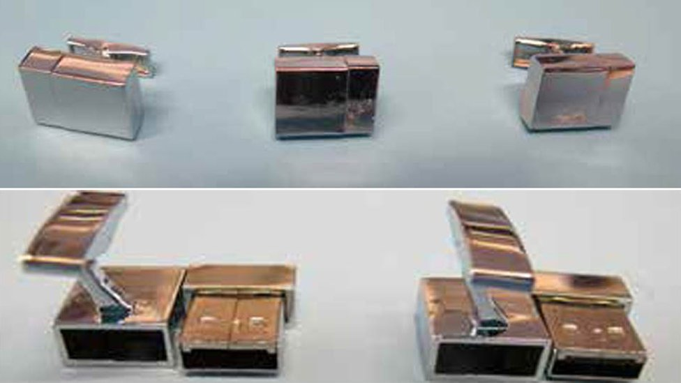 Some of the USB cufflinks which were recovered