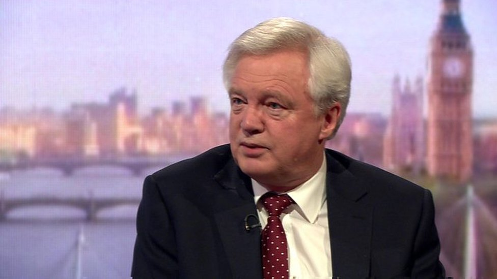 Former Brexit Secretary David Davis said he would 'probably' support the amendment