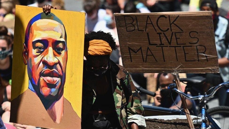 Una protesta por el caso George Floyd en EE.UU.
