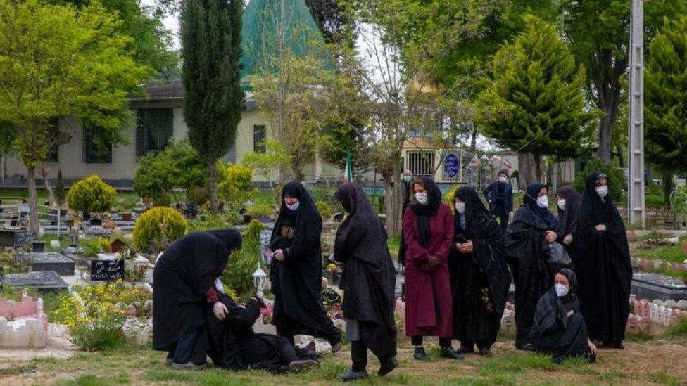 Pemakaman di Iran.