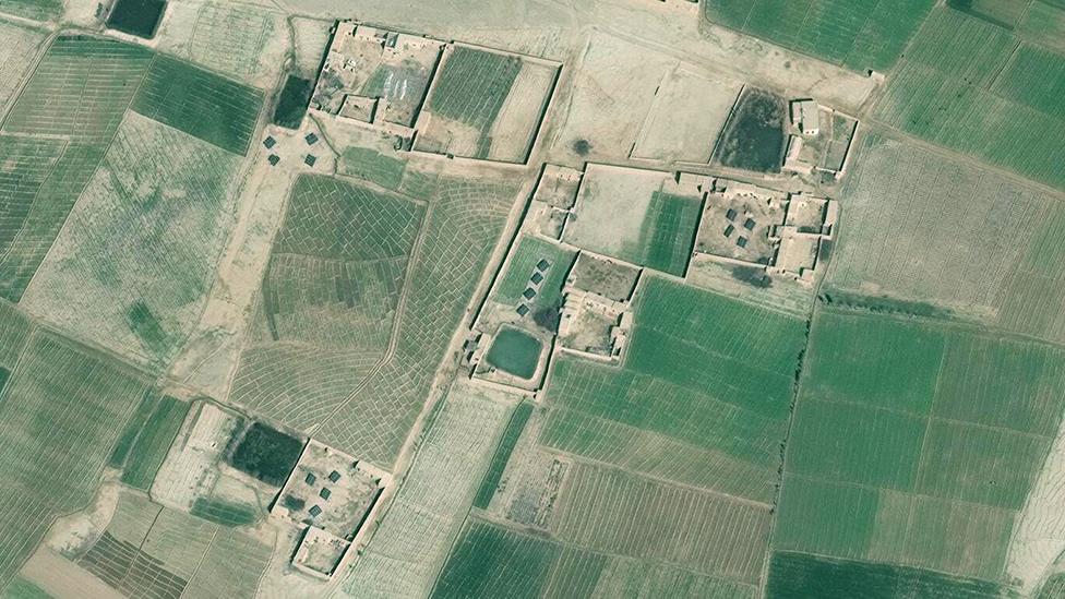 Imágenes satelitales de Helmand, en Afganistán.