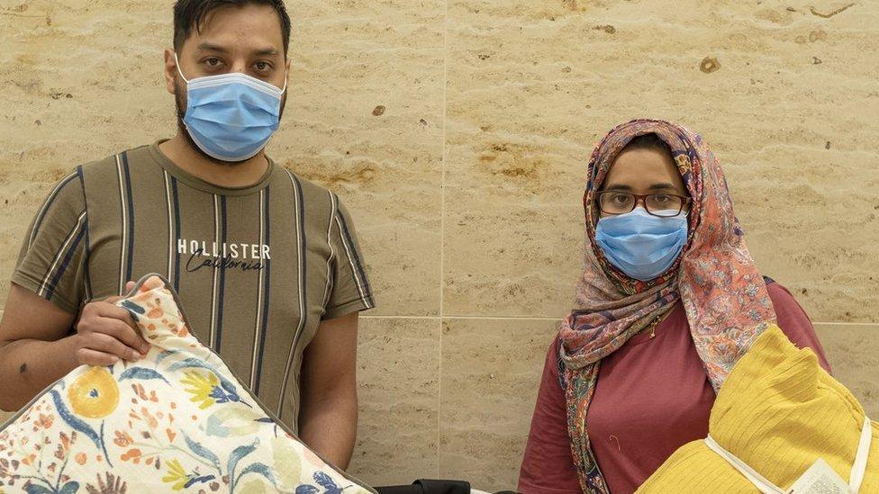 Ahmed and Zainab Kahn and baby Mirha