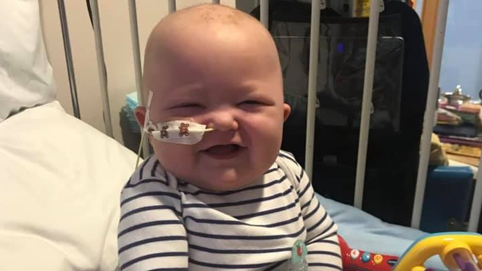 Harri Stickler: Transplant joy for baby with rare cancer
