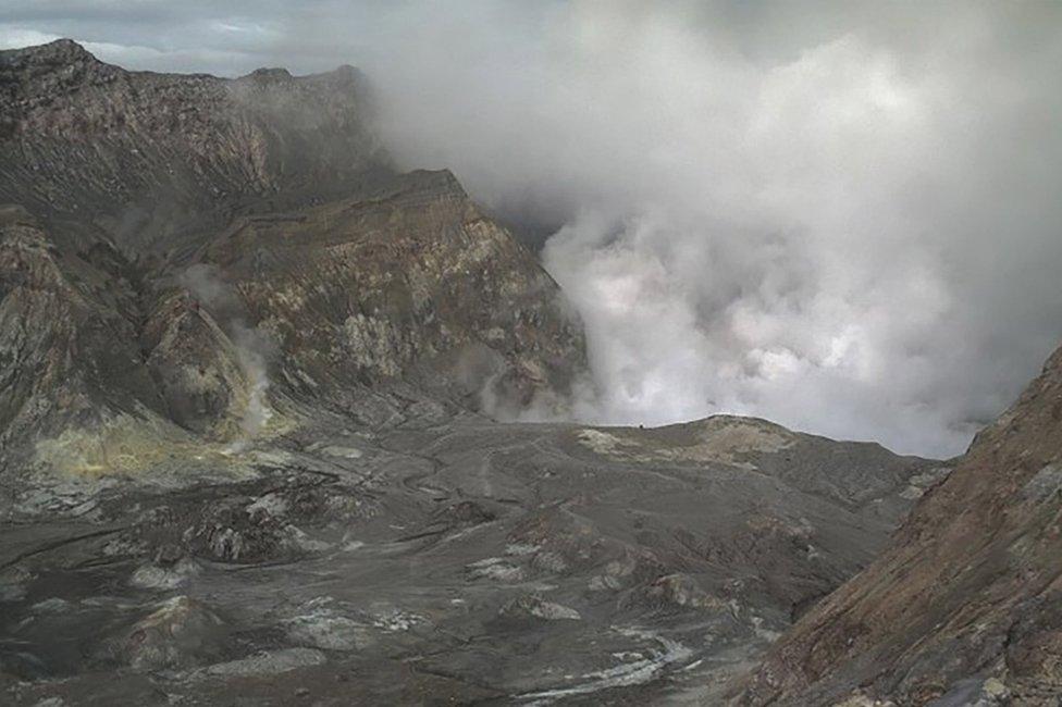 Esta imagen del GNS muestra al volcán en plena erupción.