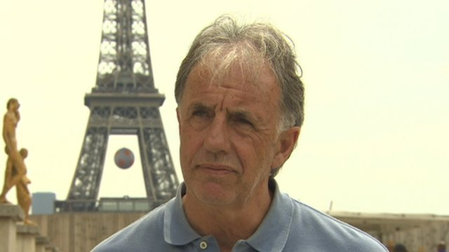 BBC pundit and former Republic of Ireland international Mark Lawrenson in Paris on Friday afternoon
