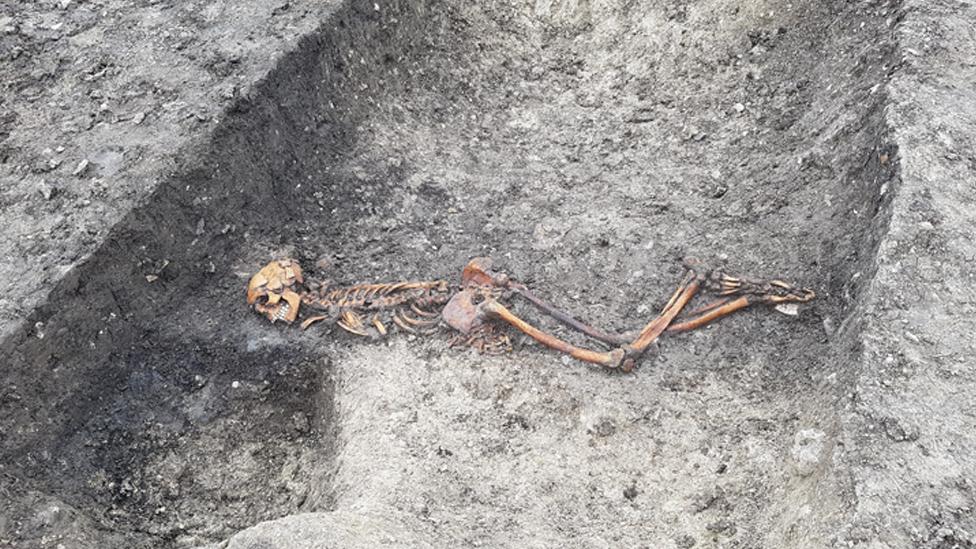 Esqueleto de la Edad de Hierro