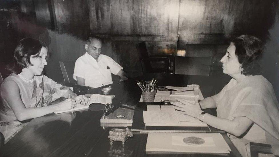 Gulshan Ewing with Indira Gandhi
