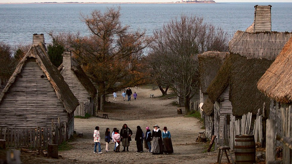 Reenactments are held in Massachusetts nearby to Plymouth Rock