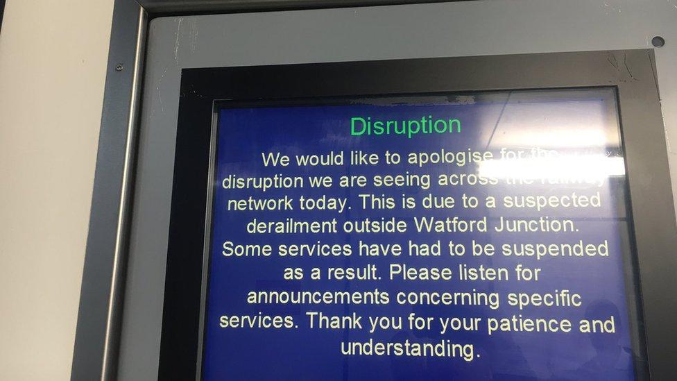 Train information on monitor
