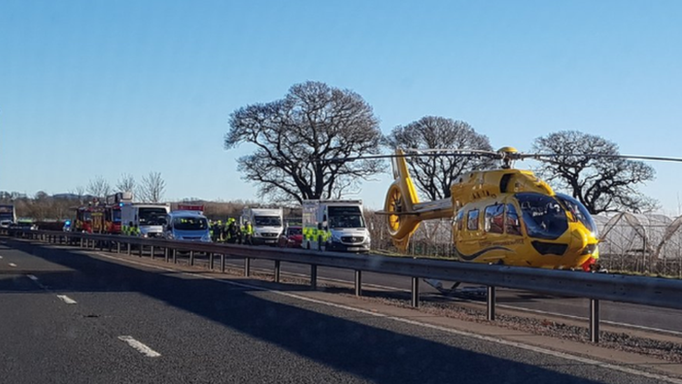 Mini bus driver killed in crash with HGV on A90 in Perthshire
