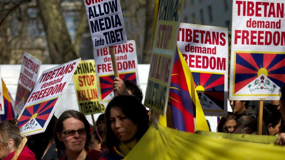 El Tíbet tiene partidarios de su independencia en todo el mundo.