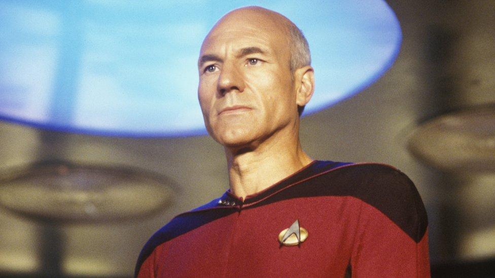 Patrick Stewart, star of TV's Star Trek: The Next Generation