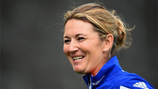 England captain Charlotte Edwards at Women's Super League launch