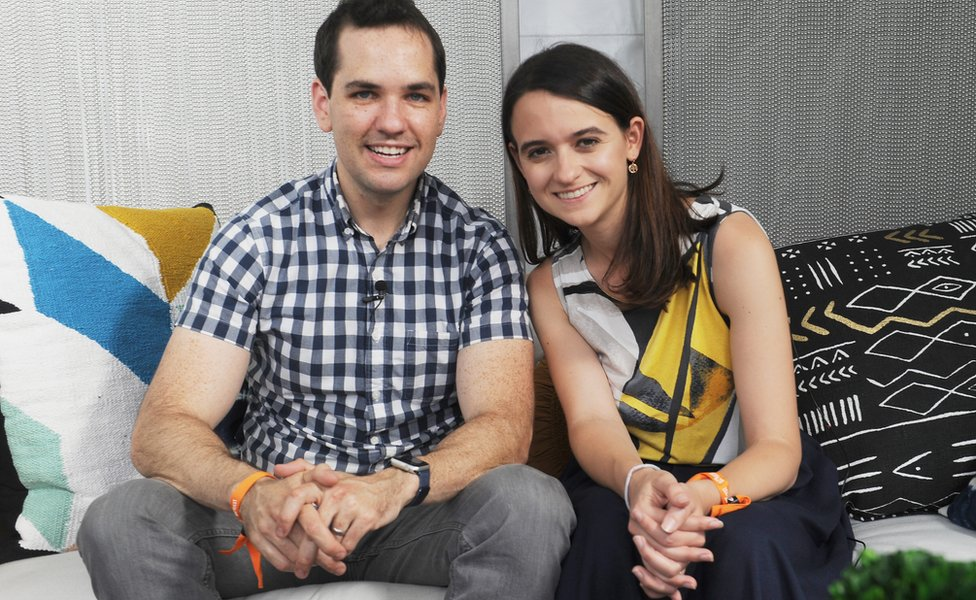 Ezra Levin and Leah Greenberg of Indivisible