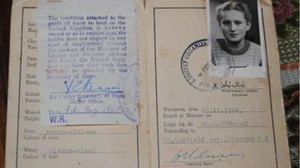 Marion's passport from 1946
