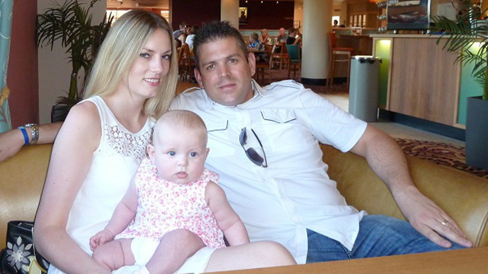 Lindsey and Paul Briggs with daughter