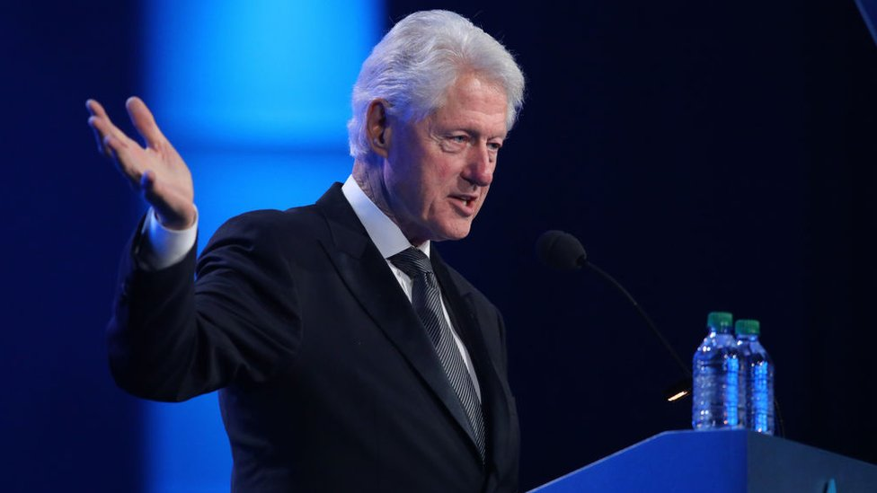 Bill Clinton takes the stage at the 2018 So the World May Hear Awards Gala benefitting Starkey Hearing Foundation at the Saint Paul RiverCentre on 15 July 2018 in St. Paul, Minnesota