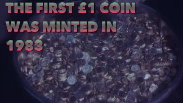 The final £1 coins being minted