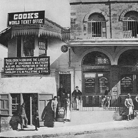 A comienzos del siglo XX, ya Thomas Cook tenía oficinas en el extranjero, como esta de Jerusalén.