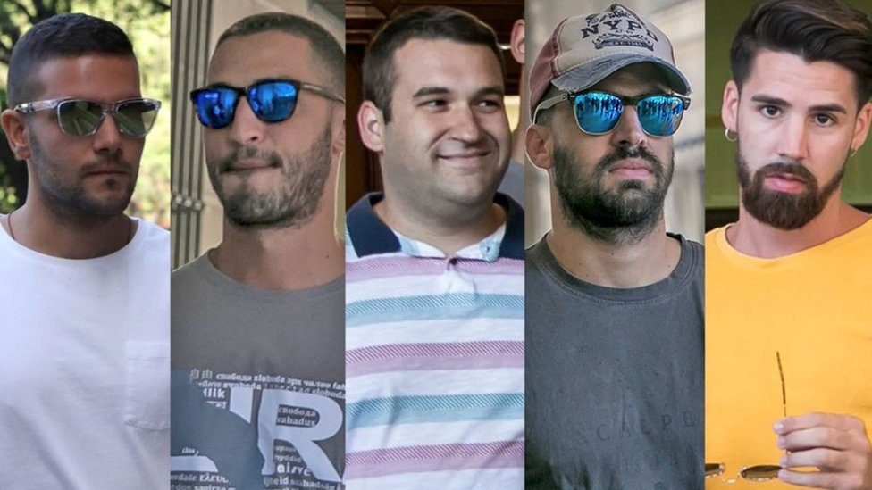 """Los cinco miembros de """"La manada""""."""