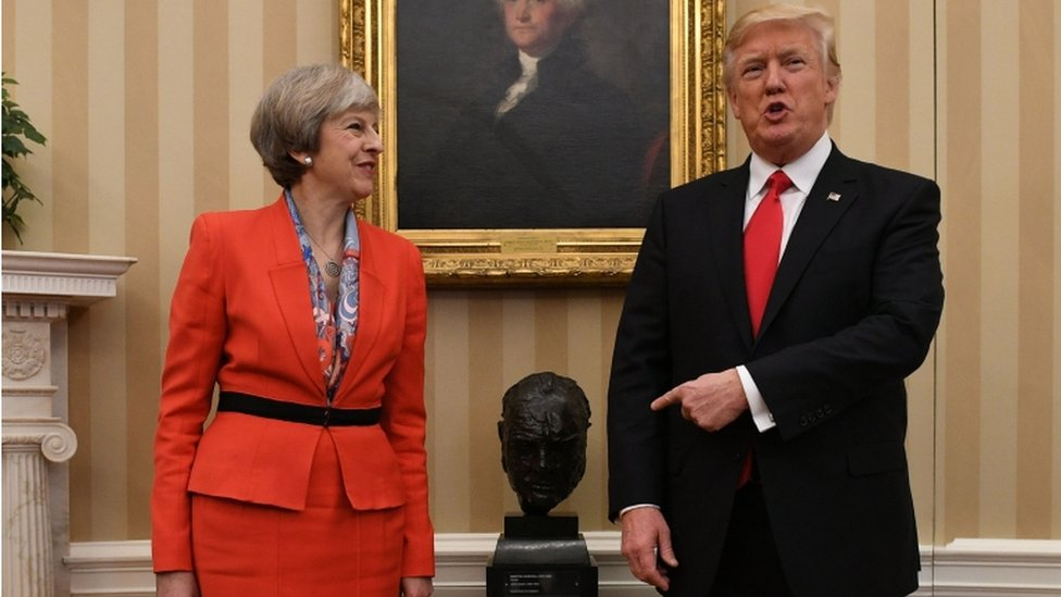 Theresa May holding talks at White House with Donald Trump - BBC News