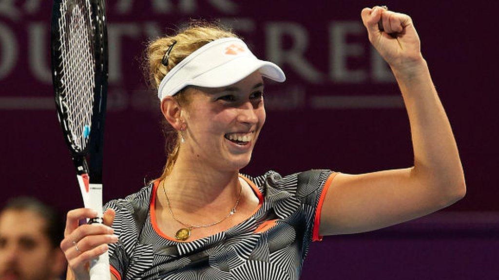 Qatar Open: Elise Mertens beats Simona Halep to win her biggest tour title