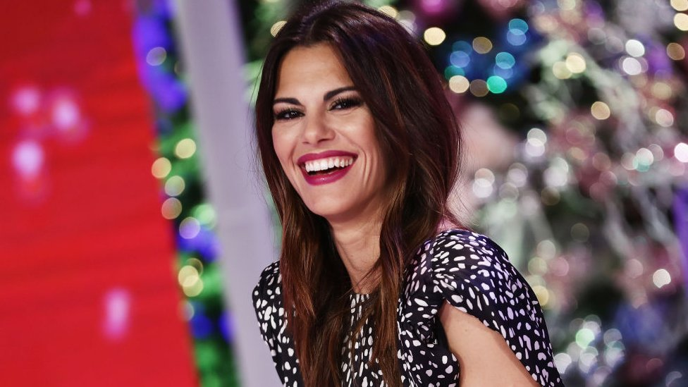 TV host Bianca Guaccero attends 'Detto Fatto' TV Show Christmas Shooting on December 7, 2018 in Milan, Italy