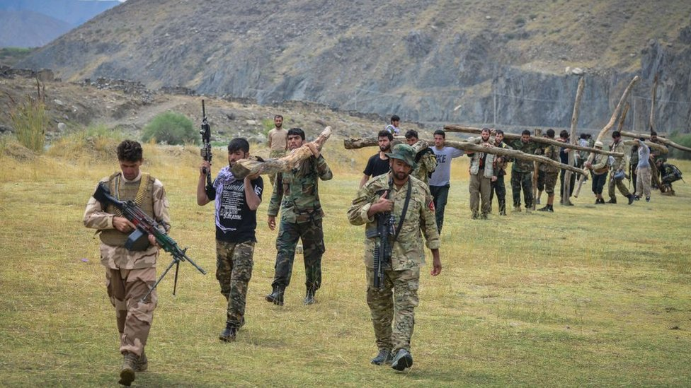 Combatientes del valle de Panjshir, 30 de agosto.