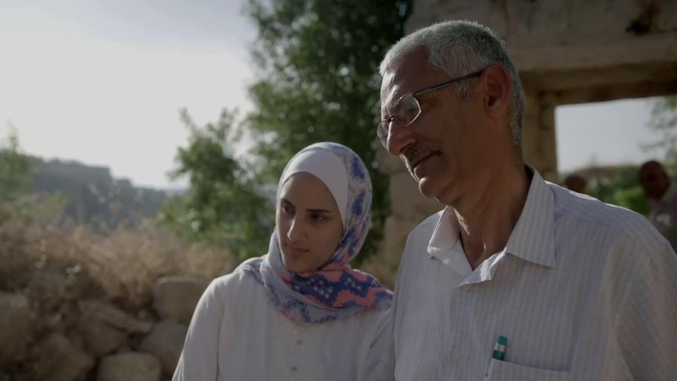 Nasir Sohail with his daughter Sohar
