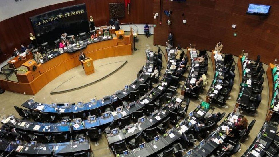 Una vista del Senado mexicano