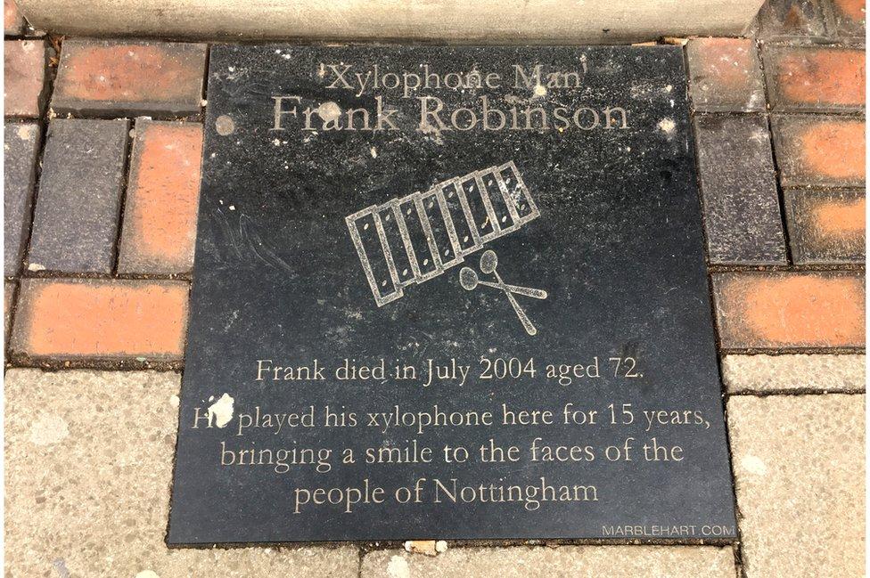Xylophone man plaque