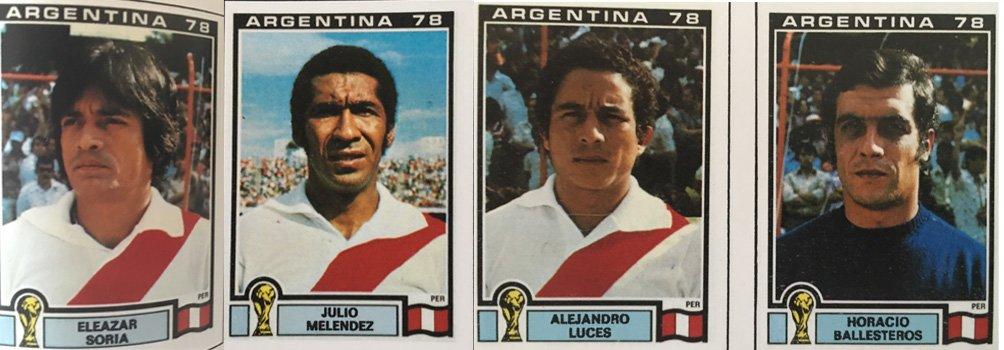 Estos son cuatro de los jugadores peruanos que salieron en el Panini de Argentina 78. (Panini).