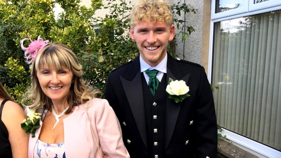 Adele Young and her son Conor Howard