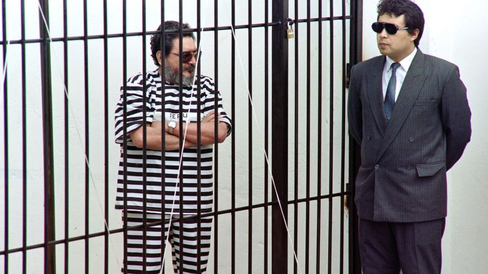 Guzmán en la cárcel, en 1992.