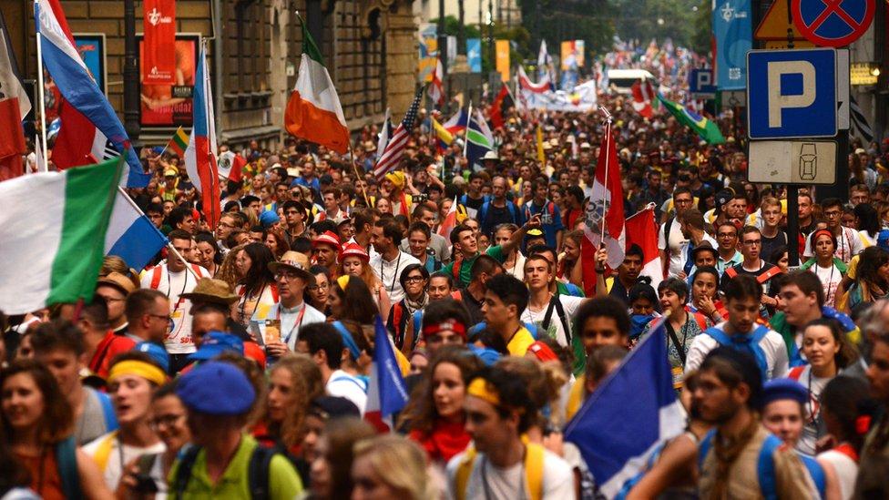 Crowds in Krakow