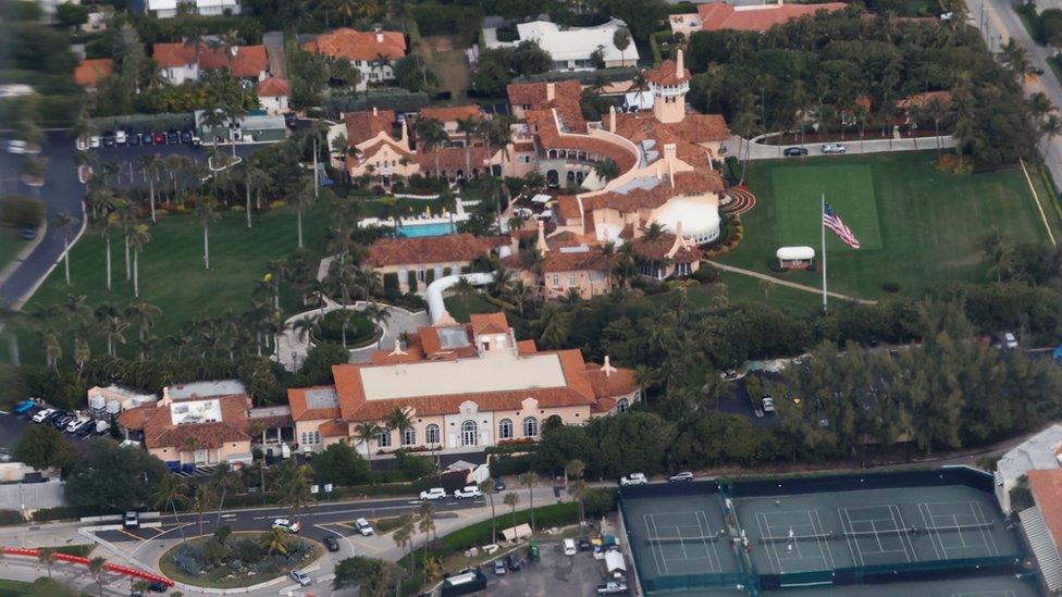Vista aérea de Mar-a-Lago