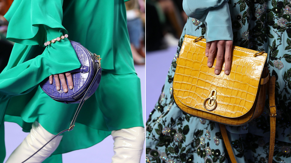 Mulberry bags at London Fashion Week