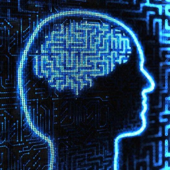 Imagen conceptual de imágenes en el cerebro.