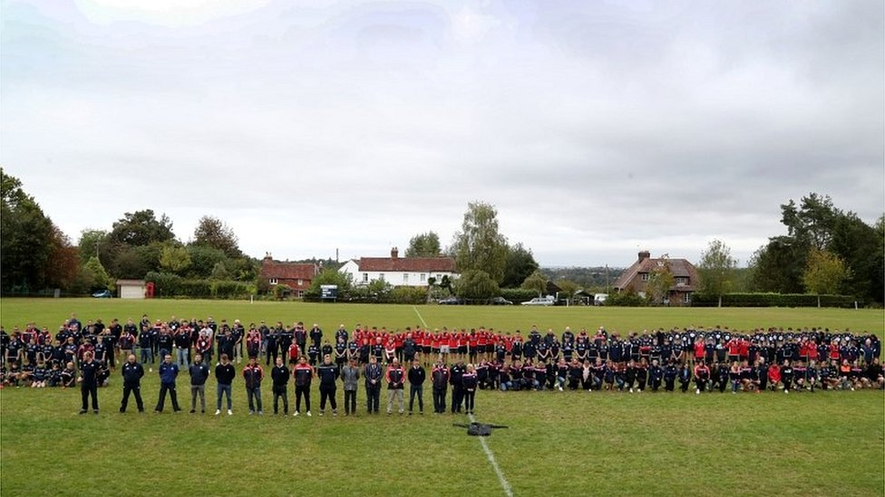 Silence held at rugby club