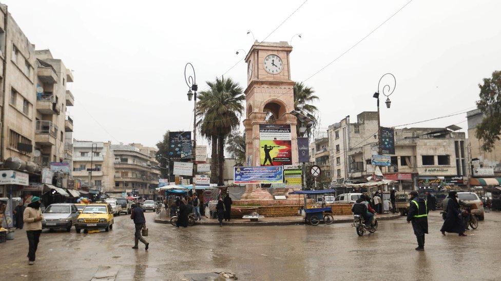 ساحة في وسط إدلب 7 فبراير/شباط 2019